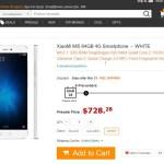 XiaoMi Mi5 128GBは$587.79在庫切れXiaoMi Mi5 64GBだけ$728.28と恐ろしく高い!