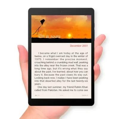 【文庫本に最適化】7.5インチ中華パッドTeclast X89 Kindow Reader 本読みタブレットとして採用します