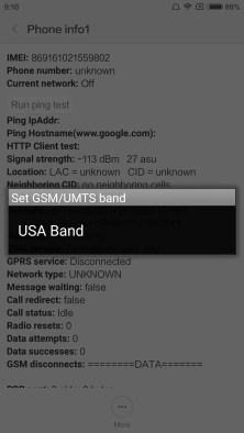 USA Bandの表示を確認