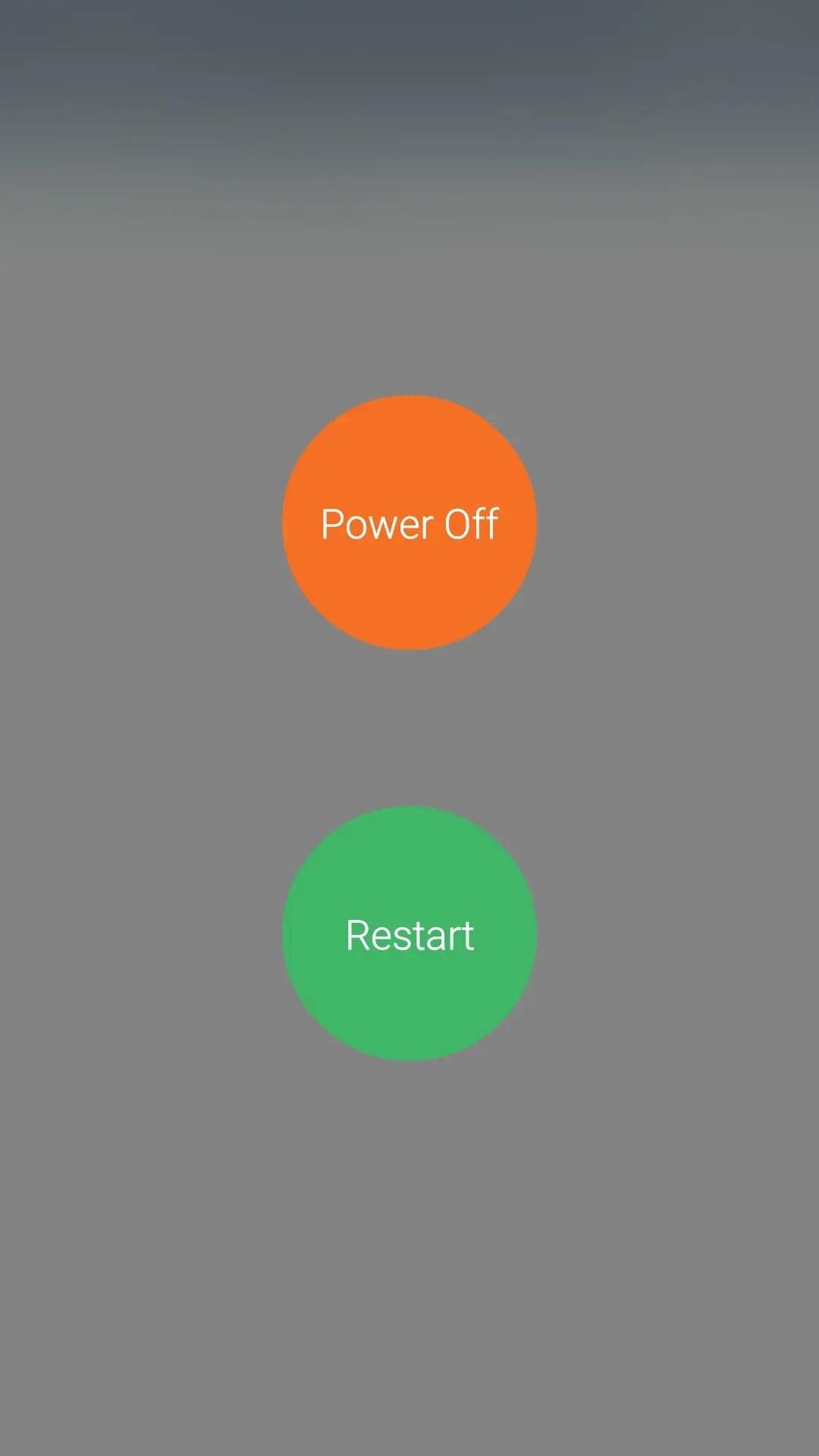 電源長押しでパワーオフ・リスタート