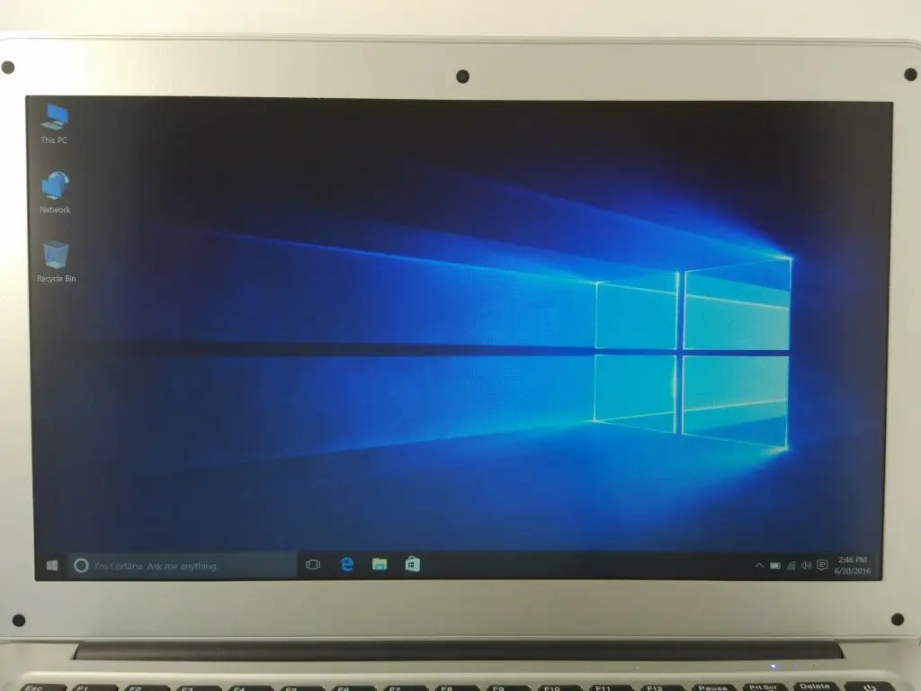 Windows10の初期設定完了でデスクトップ表示された