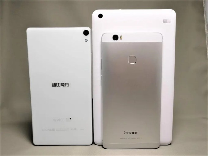 Cube iwork 8 Air & WP10 & Huawei honor note 8 裏面 立てかけ