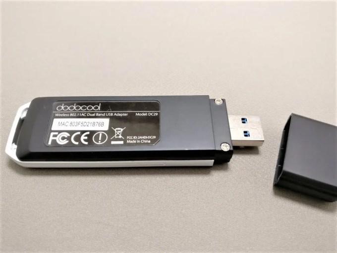 dodocool AC1200デュアルバンド USB3.0 Wi-fiアダプタ 本体 裏