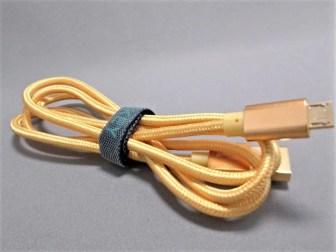 microusb ケーブル 2本セットメッシュ ゴールド