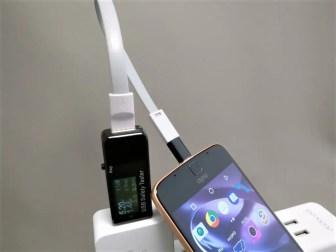 VoteUSBケーブル + Motorola Moto Z充電テスト