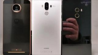 【5.5~6.4インチ 中華スマホ】Huawei Mate 9・Moto Z・Mi MIX サイズ感比較