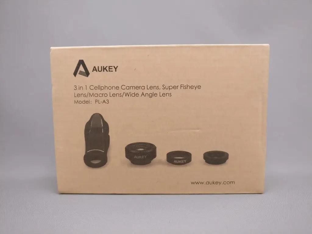AUKEY 3in1 スマホレンズ PL-A3 化粧箱 表
