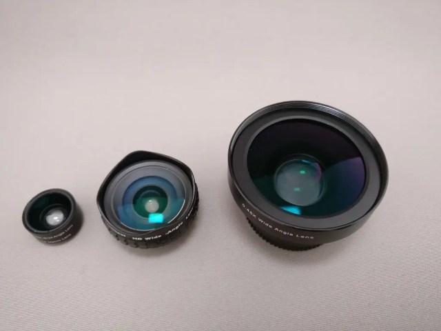 AUKEY 3in1 スマホレンズ PL-A3 他巨大レンズ3
