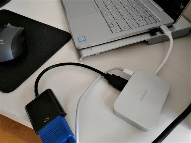 dodocool USB-C PDハブ Xiaomi Mi note Air 12に接続して実験