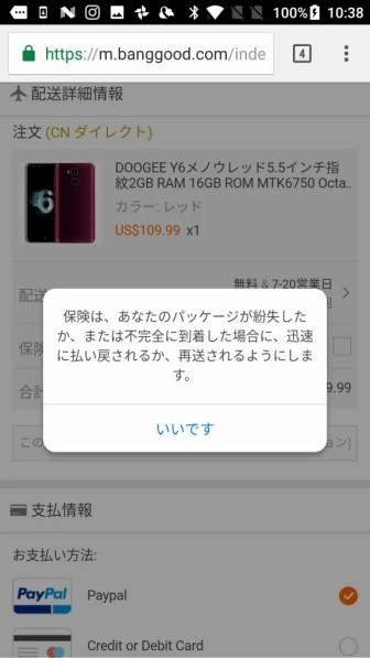 Banggood 保険 説明