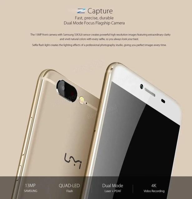UMI Z Samsung S5k3L8 カメラ