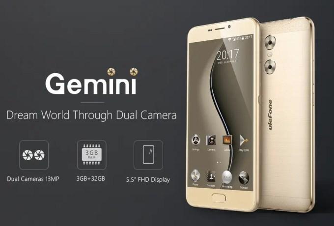 Ulefone Gemini デュアルカメラが特徴