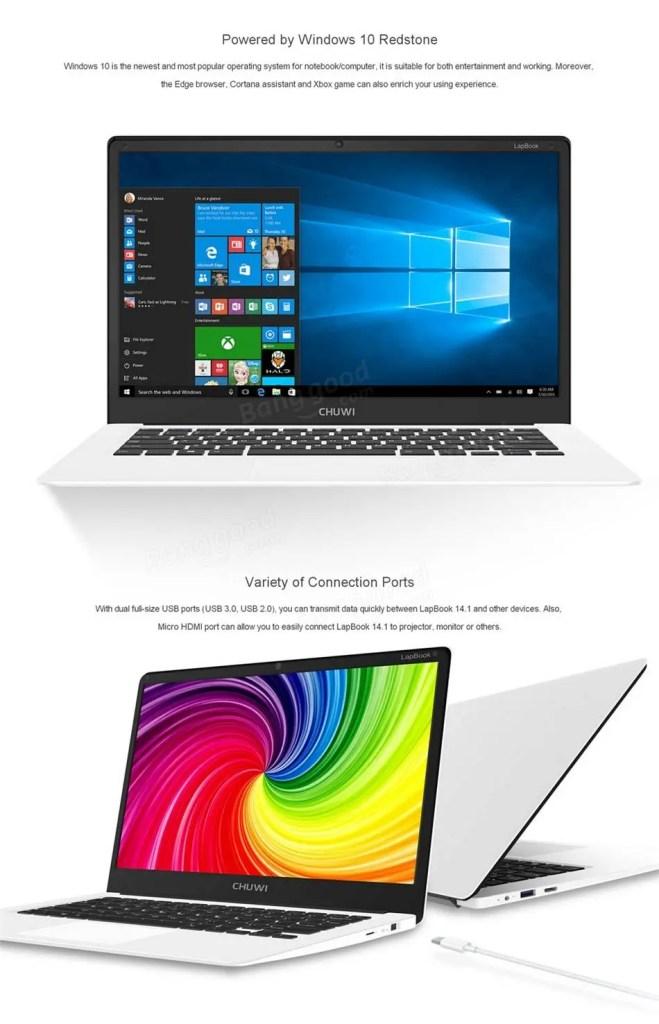 Chuwi Lapbook Notebook ホワイトな外観