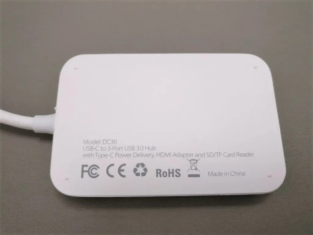 dodocool USB-C PDハブ 裏面