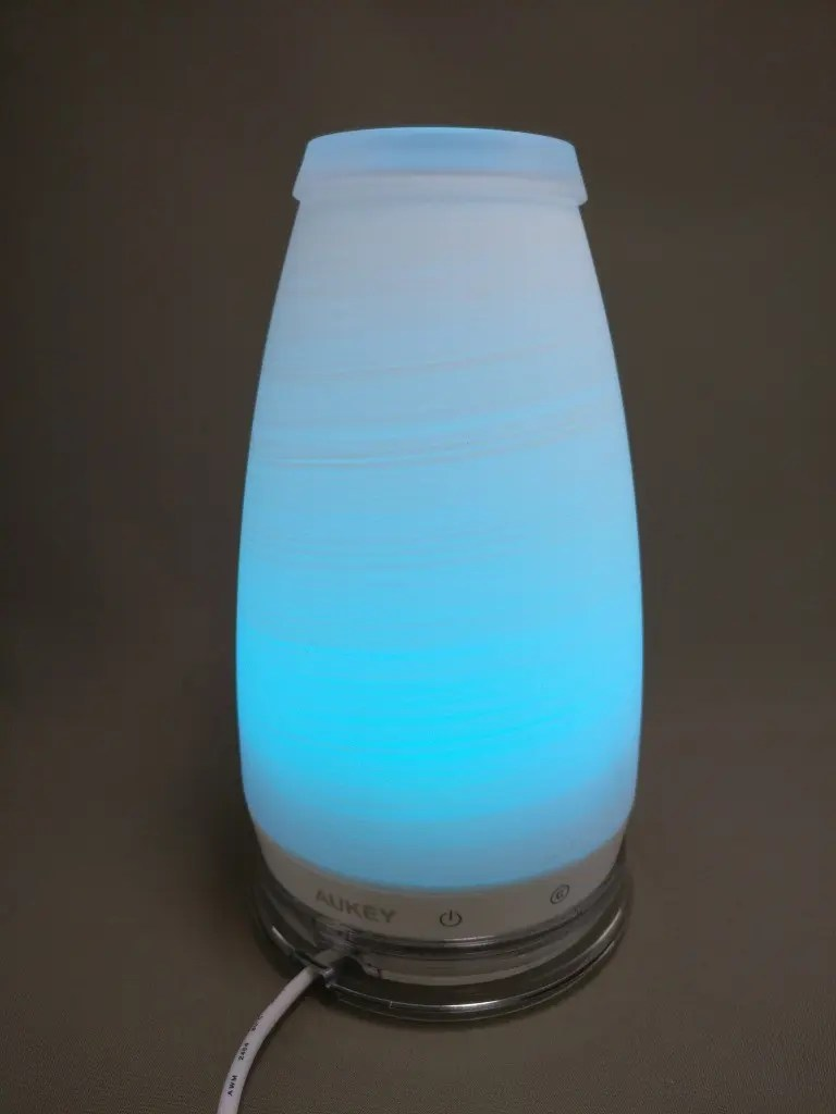 AUKEY LEDライト 花瓶 1W USB充電 LT-ST14 水色