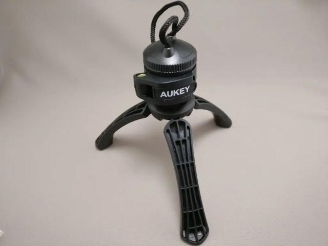 AUKEY ミニ三脚+スマートフォンホルダー CP-T01 三脚 フタ兼 ストラップ付き