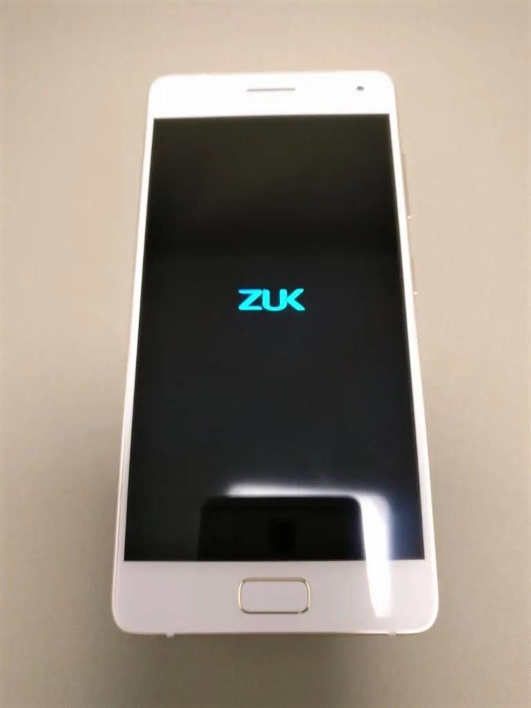 Lenovo ZUK Z2 Pro 起動 ZUKアイコン