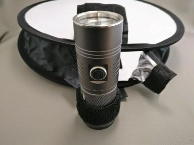 30cmポータブルミニ丸ソフトボックス フラッシュライト装着