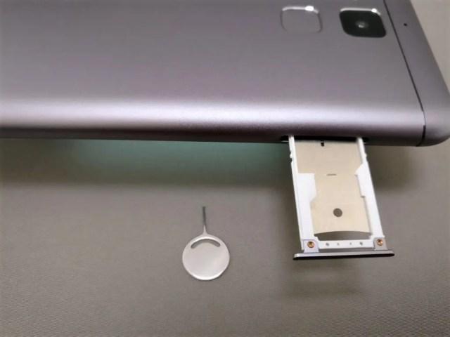 ASUS Zenfone Max SIMスロットとSIMピン
