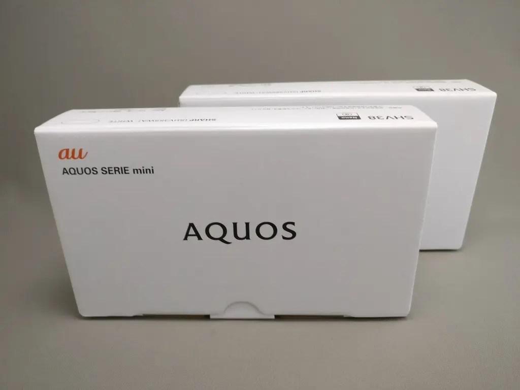 シャープ AQUOS SERIE mini SHV38 化粧箱表