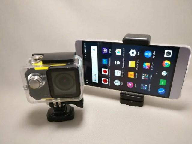 AUKEY スマートフォンホルダー+三脚 CP-T03 アクションカメラとスマホを装着 上