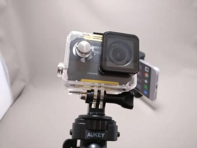 AUKEY スマートフォンホルダー+三脚 CP-T03 アクションカメラ装着