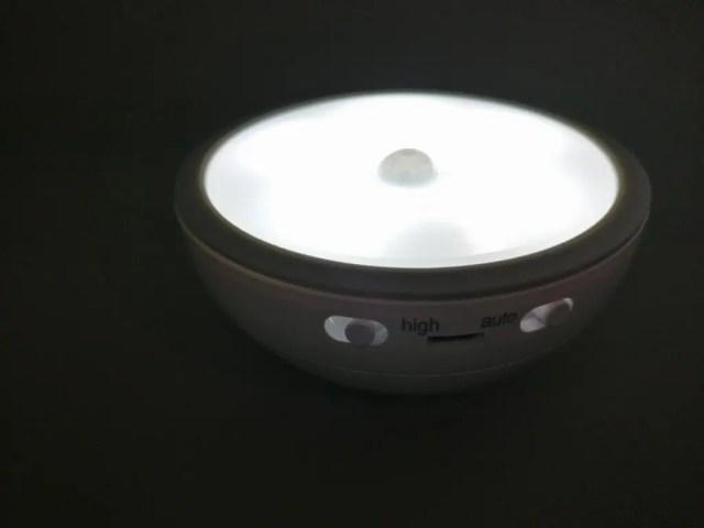 dodocool 0.5Wx5LEDセンサーライト 5灯LED けっこう明るい
