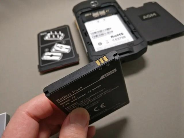 AGM A8 開封 バッテリー シール取る