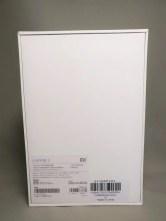 Xiaomi Mi Pad 3 化粧箱 裏