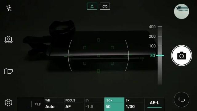 LG V20 Pro カメラ マニュアルモード ISO 50