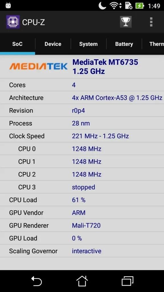 ASUS Zenfone Max 3 CPU-Z SoC