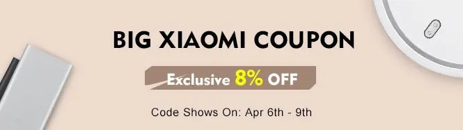Banggood Xiaomi Give In Return 8%オフ