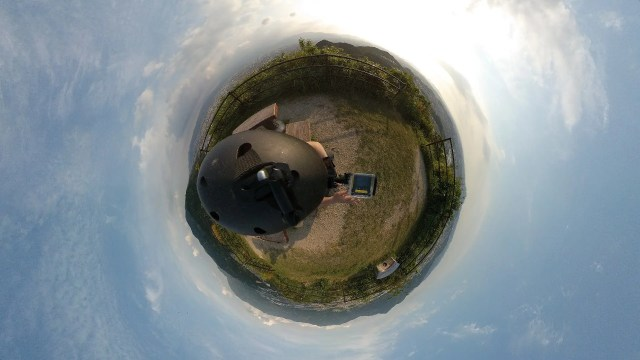 Mi Sphere Cameraアプリ Little Planet 横向きも出力可能