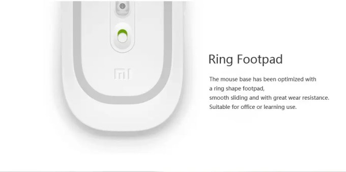 XIAOMI 1200DPI 2.4GHz 4 Buttons Wireless Optical Mouse For PC Laptop スイッチ