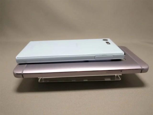 LeEco Le Max 2 X829とXperia X Compact 裏横