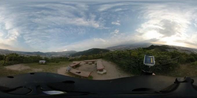 Xiaomi mijiaXiaomi mijia 3.5K Panorama Action Camera 裏山撮影4