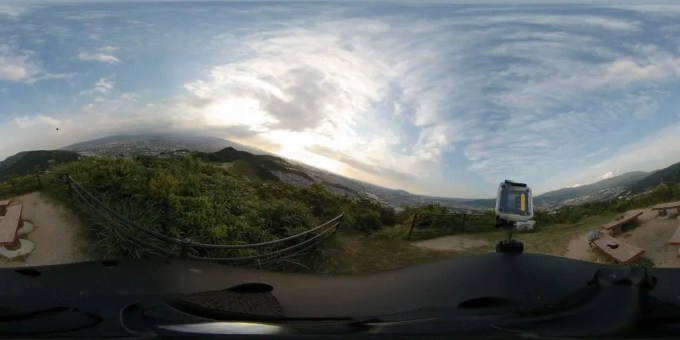 Xiaomi mijiaXiaomi mijia 3.5K Panorama Action Camera 裏山撮影5