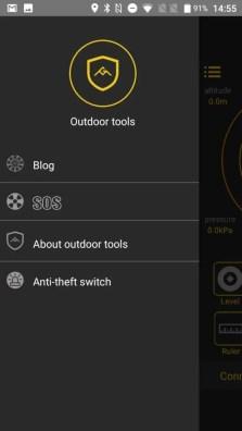 AGM A8 Outdoor tools 左メニュー