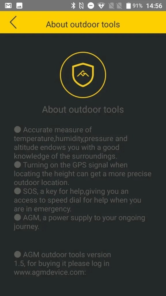 AGM A8 Outdoor tools 説明