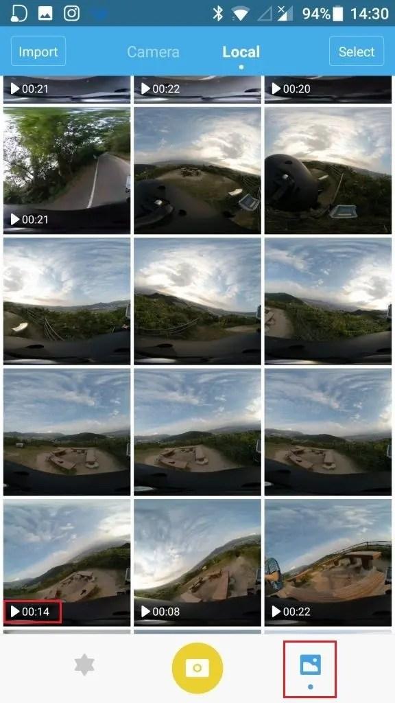 Mi Sphere Cameraアプリ 動画編集