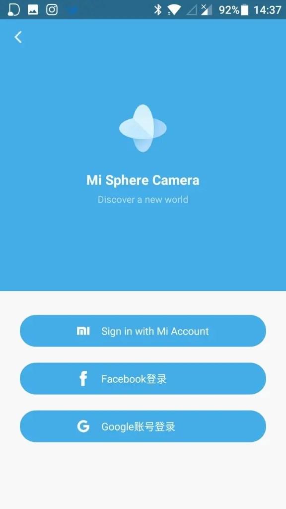 Mi Sphere Cameraアプリ 動画編集完了 シェアもできる ログイン