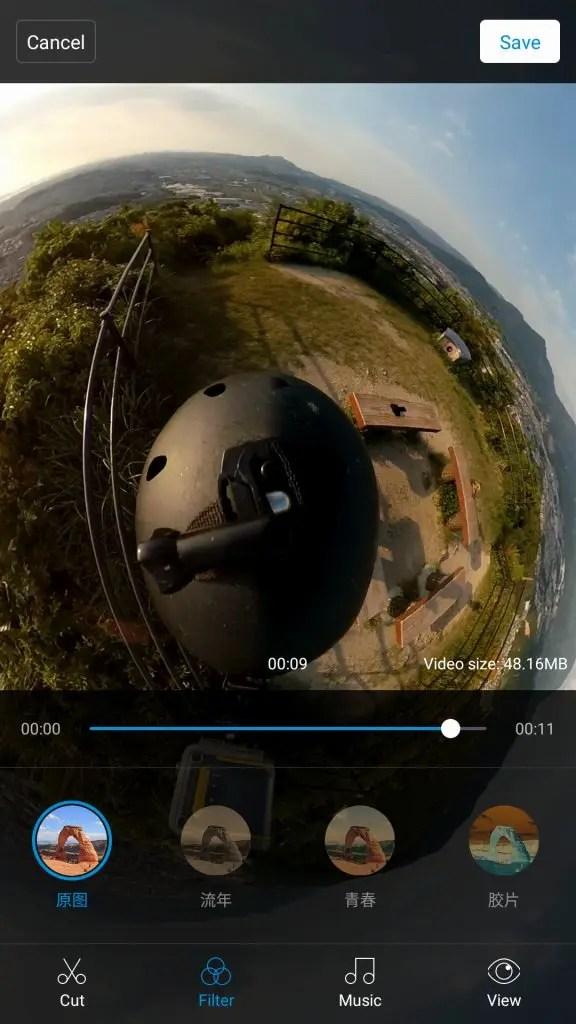Mi Sphere Cameraアプリ Filter デフォルト