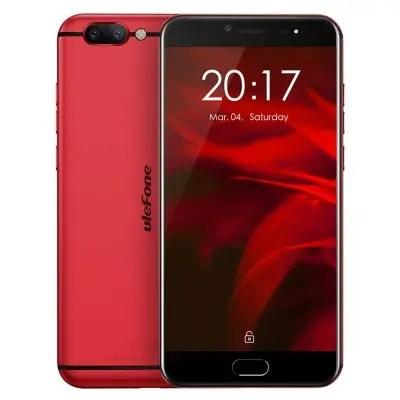 gearbest Ulefone Gemini Pro MTK6797X Helio X27 2.6GHz 10コア RED(レッド)