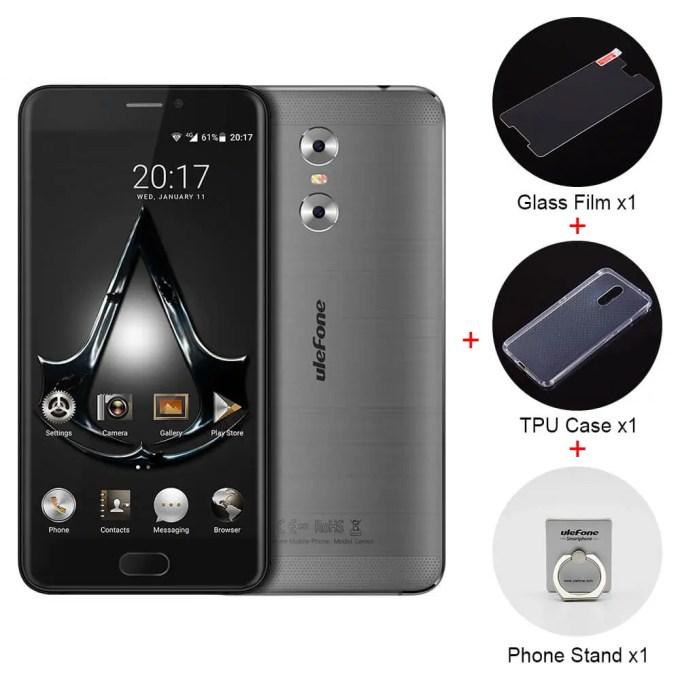 geekbuying Ulefone Gemini MTK6737T 1.5GHz 4コア GRAY(グレイ)