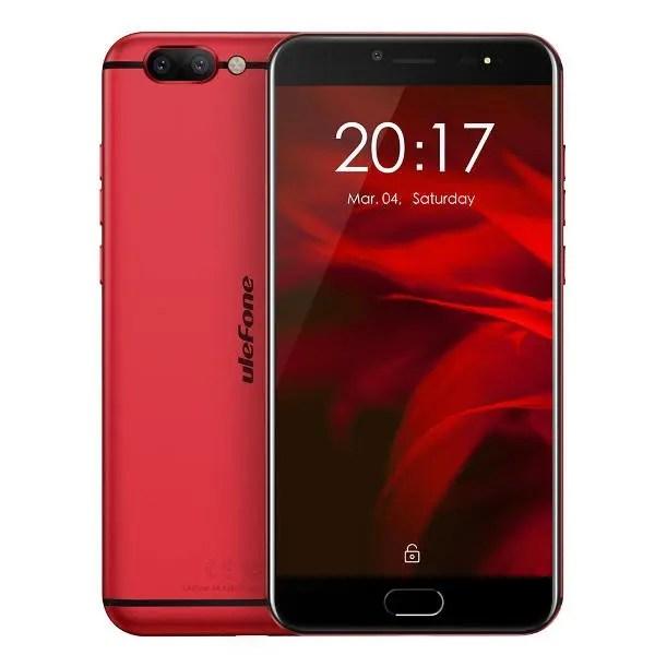 banggood Ulefone Gemini Pro MTK6797X Helio X27 2.6GHz 10コア RED(レッド)