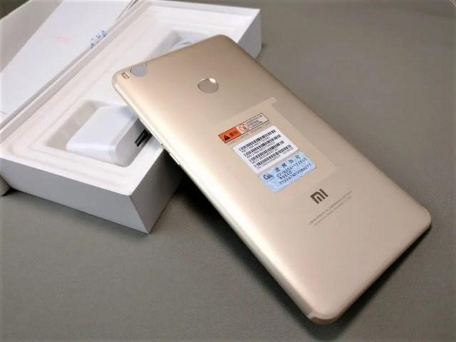 Xiaomi Mi Max 2 開封 裏
