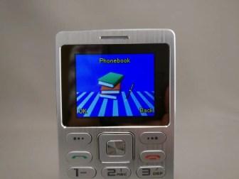 SATREND A10 GSM ミニカードフォン 電話帳
