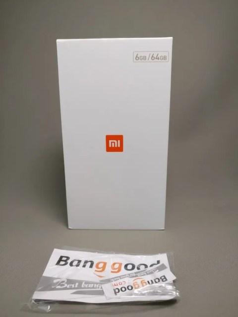 Xiaomi Mi6 化粧箱 Banggoodシール
