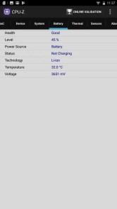 LENOVO phab2 Plus CPU-Z Battery