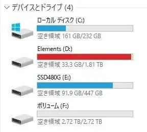 ディスクの管理 ディスク3 新しいシンプルボリューム 増えた